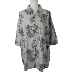 Paradise Blue -100% Cotton XXL Tropical Shirt